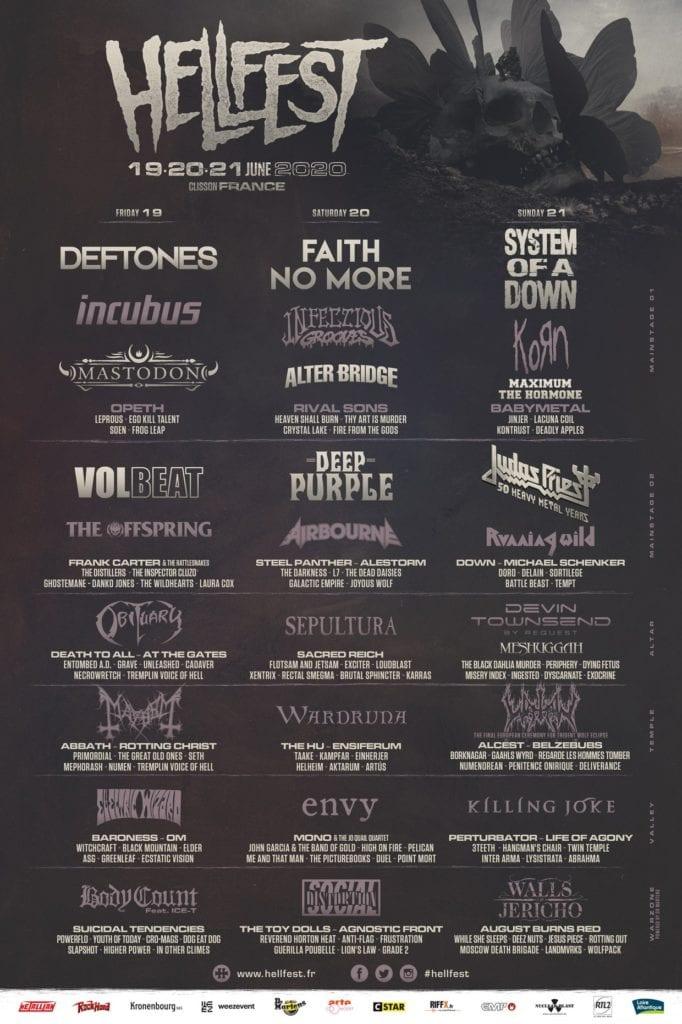 Hellfest 2020 line-up